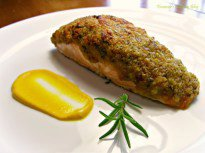 Wasabi Herb Crusted Salmon