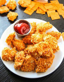 Crispy Baked Pizza Cheez-it Chicken Bites