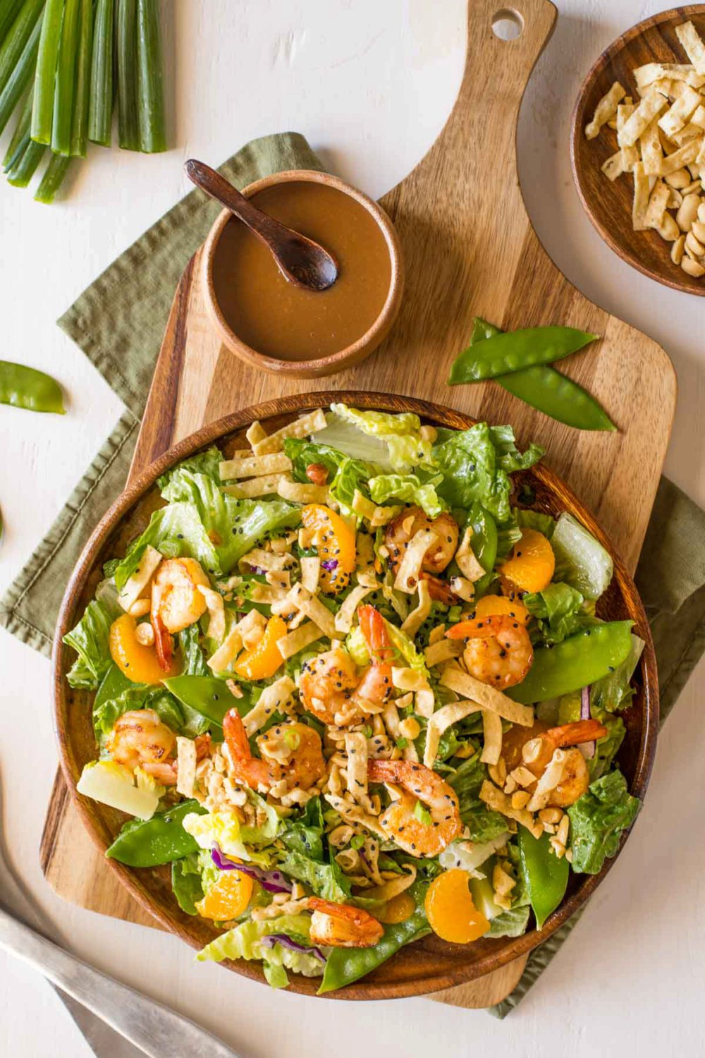 Shrimp Salad with Spicy Peanut Dressing
