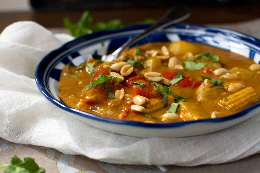 Massaman chicken curry with sweet potato and peanuts