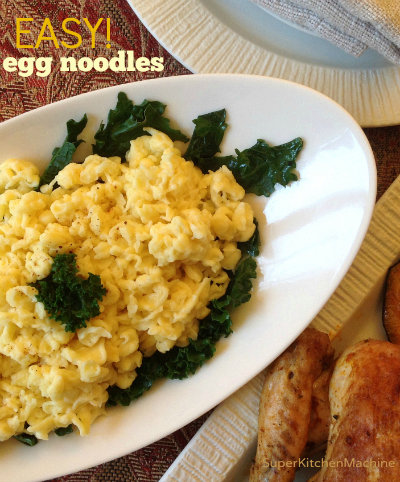 Easy Thermomix egg noodles (Spaetzle)