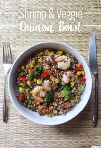Shrimp and Veggie Quinoa Bowl