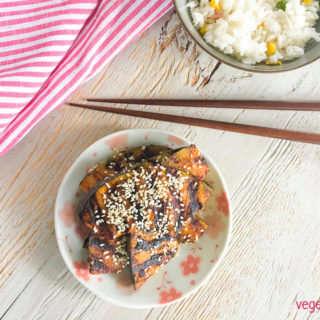 Grilled pumpkin with dairy-free miso butter