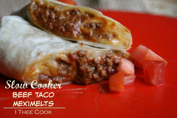 Slow Cooker Beef Taco Meximelts {Taco Bell CopyCat}