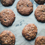Teff Oatmeal Raisin Cookies with Cacao Nibs (Gluten Free, Dairy Free)