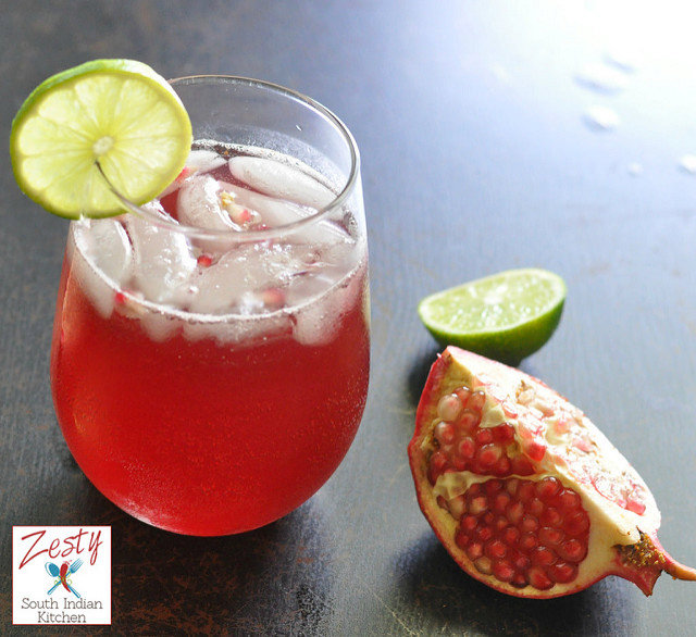 Pomegranate Juice Spritzer/ Sharab Rumman