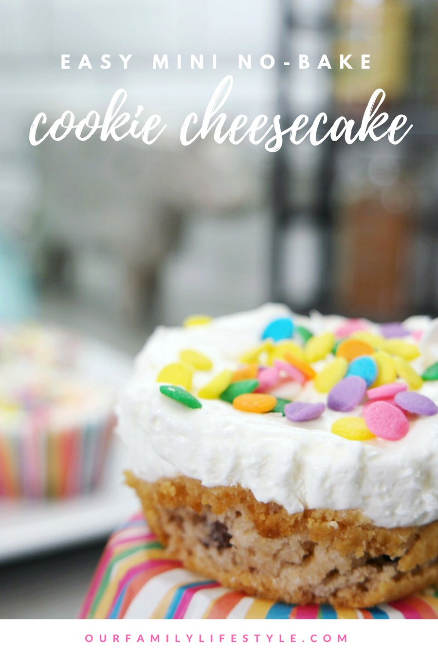 Easy Mini No-Bake Cookie Cheesecake Recipe for Kids
