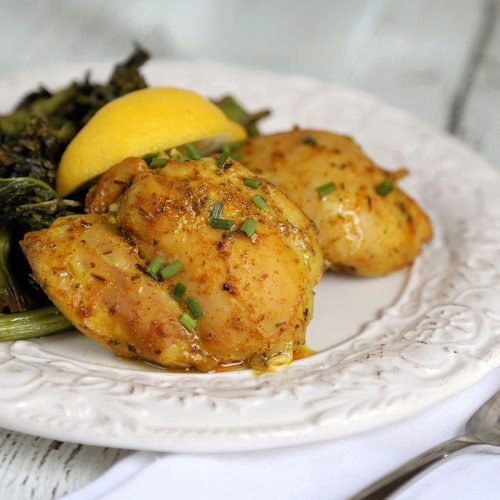 Cast Iron Chicken Thighs : Baked Turmeric Chicken Thighs Recipe