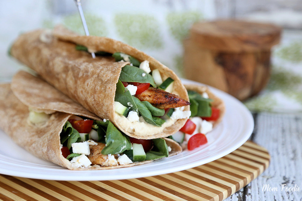 Mediterranean Grilled Chicken Wrap Recipe, and Eating More Organic on a Budget