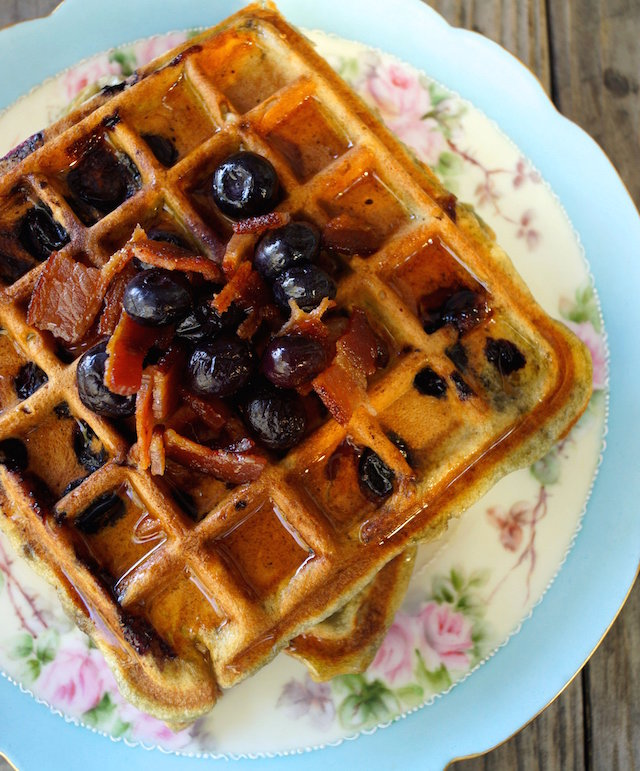 Brown Butter Blueberry-Bacon Waffle Recipe