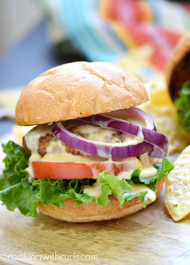 Mexican Burgers with Queso Blanco