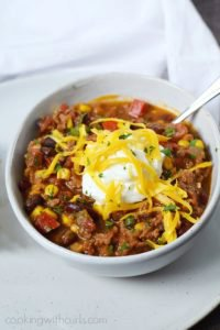 Southwest Chili with Black Beans and Corn