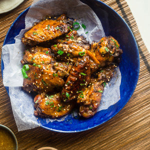 Sticky Slow Cooker Chicken Wings with Pineapple 5 Spice Sauce {Whole30 + Paleo + Super Simple}