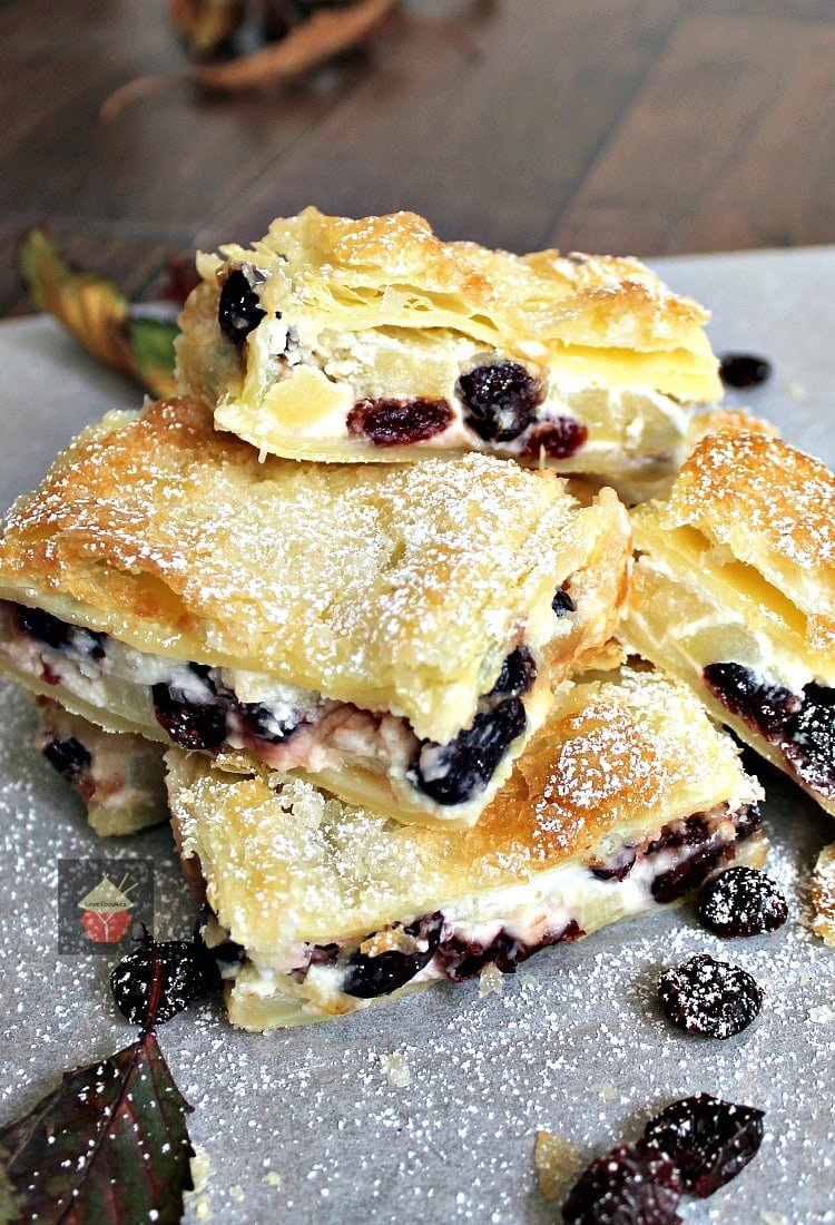Apple and Cranberry Crescent Roll Cream Cheese Bars