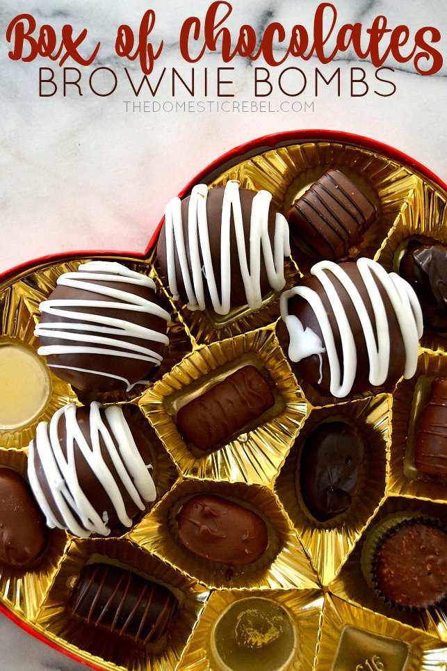 Box of Chocolates Brownie Bombs