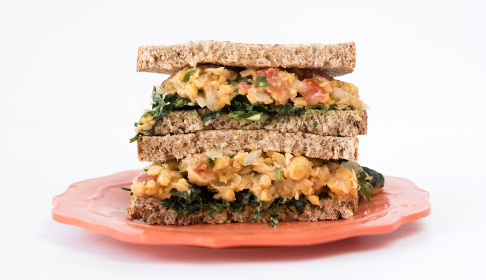 Mexican Chickpea Salad Sandwich