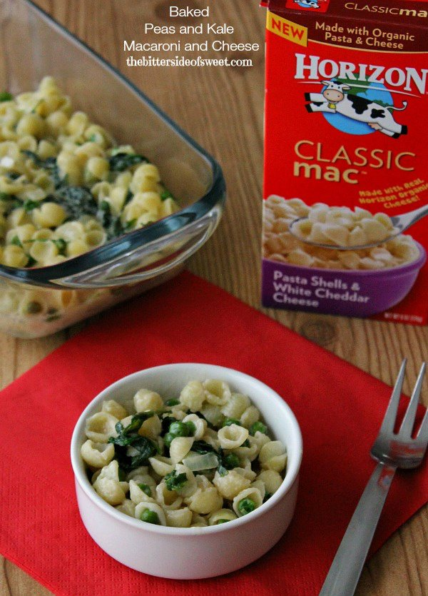 Baked Peas and Kale Macaroni and Cheese