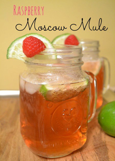 Raspberry Moscow Mule - Holiday Drink Recipes