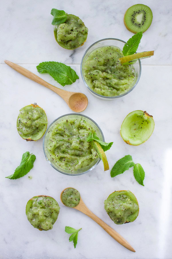 Cool Mint Chia Kiwi Slush