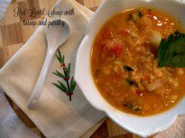 Soup's On: Red Lentil with Turnip and Parsley