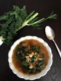 Chickpea Soup with Kale and Barley