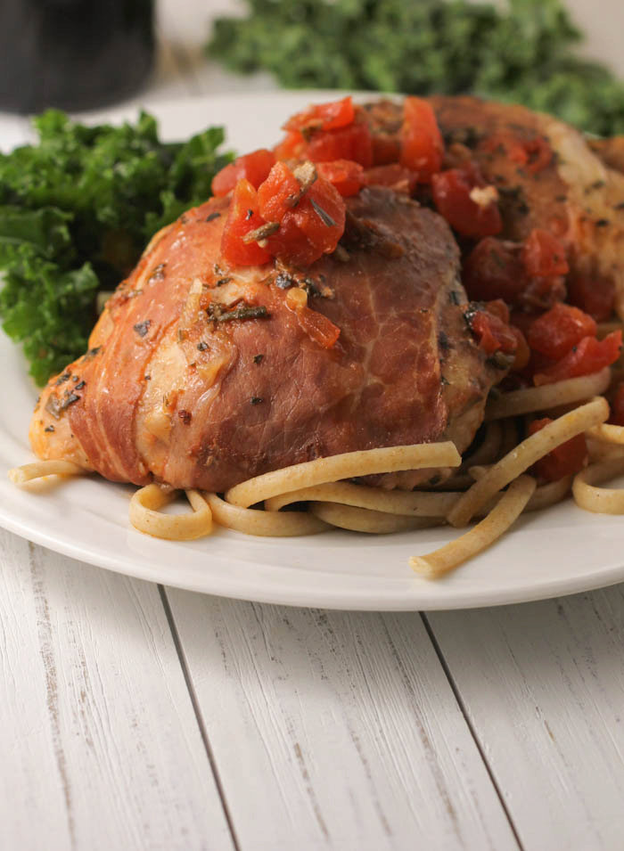 Slow Cooker Chicken Thighs with Prosciutto