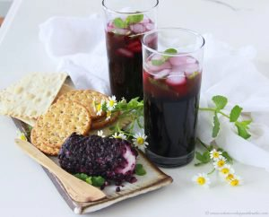 Non-boozy Blueberry Mint Mojito