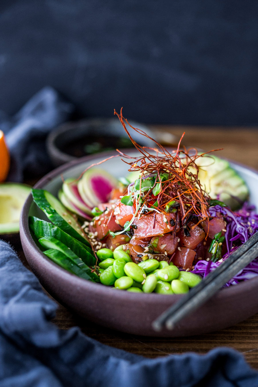 Healthy Poke Bowl ( Vegan Adaptable!)