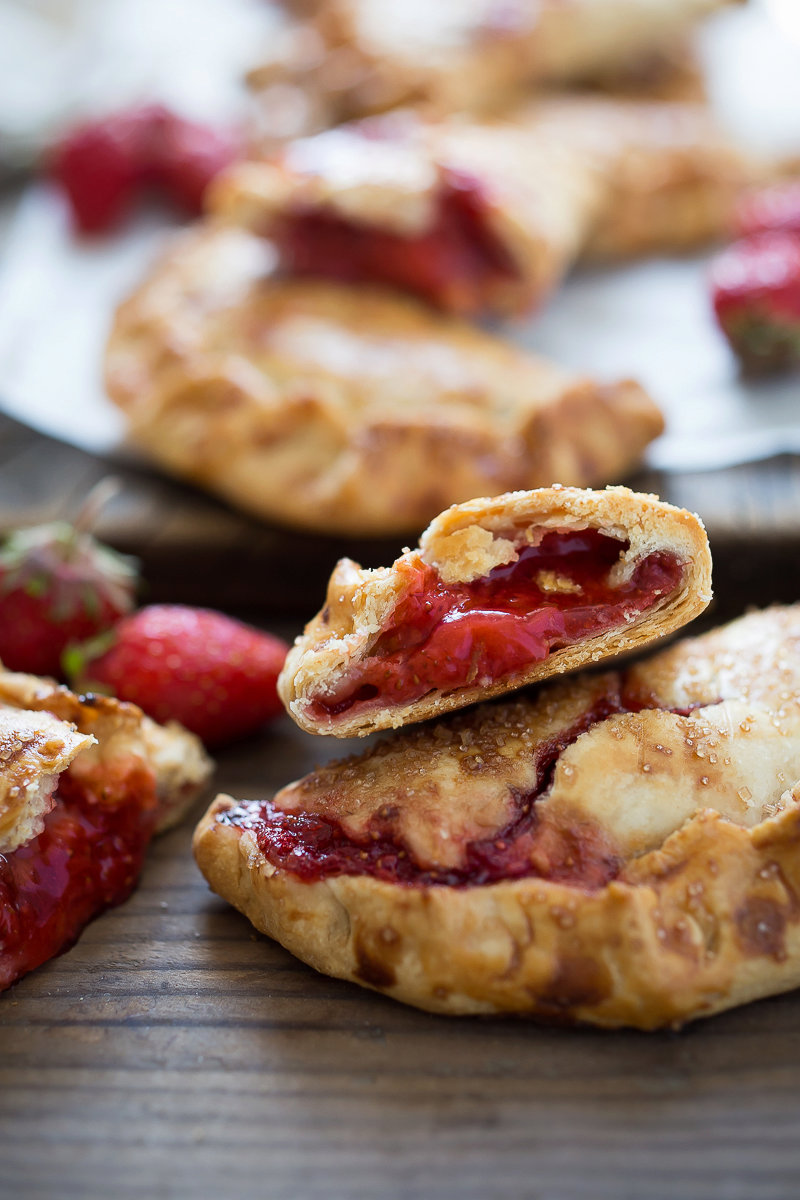 Rustic Strawberry Hand pies ( Turnovers)
