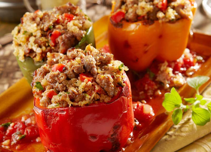 Sausage-Stuffed Peppers