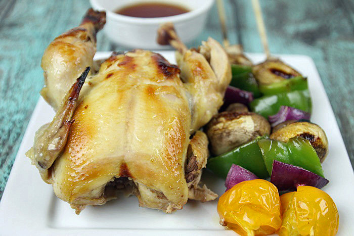Grilled Cornish Hens With Sweet and Spicy Marinade