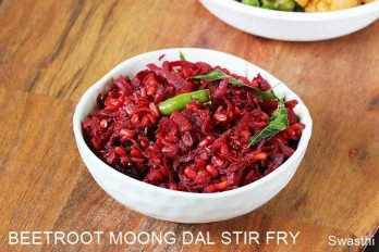 Beetroot fry recipe | Moong dal beetroot stir fry recipe