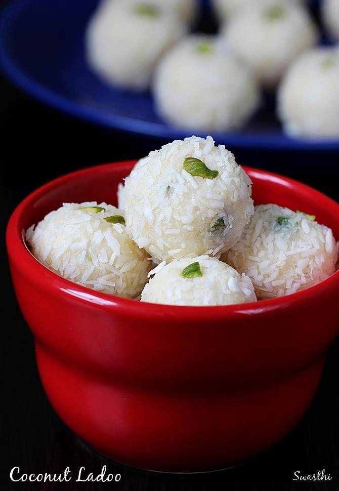 Coconut ladoo with condensed milk | Coconut balls recipe with milkmaid