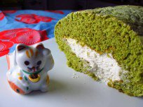 Matcha Swiss Roll Birthday Cake