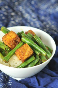 Green Beans and Tempeh with XO Sauce