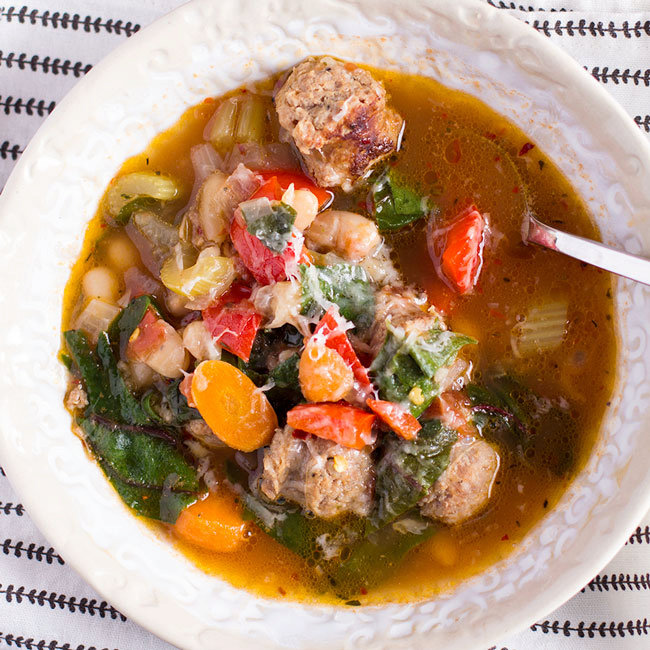 Dinner Soup (Sausage, Kale and White Bean Soup)