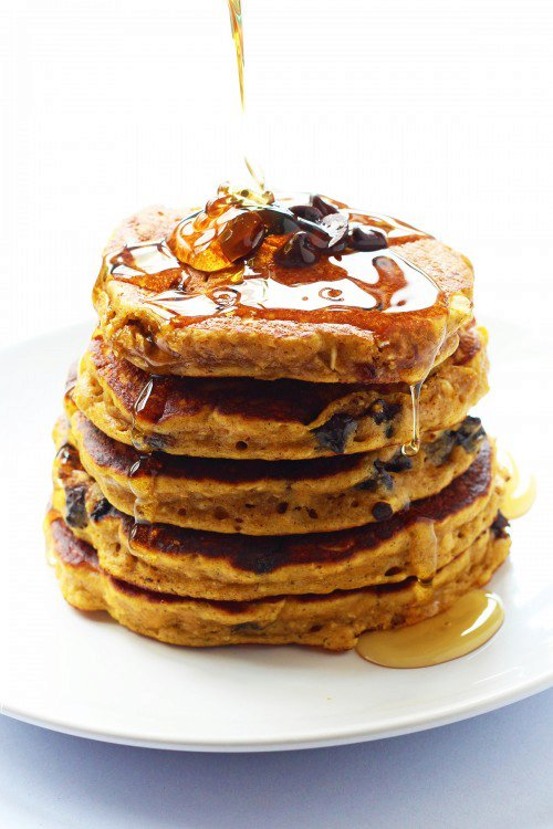 Pumpkin Chocolate Chip Oatmeal Cookie Pancakes
