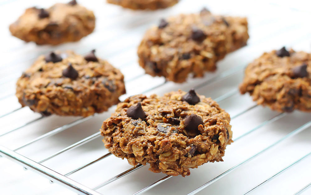 Pumpkin Oatmeal Cookies with Chocolate Chips