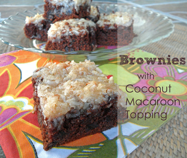 Brownies with Coconut Macaroon Topping