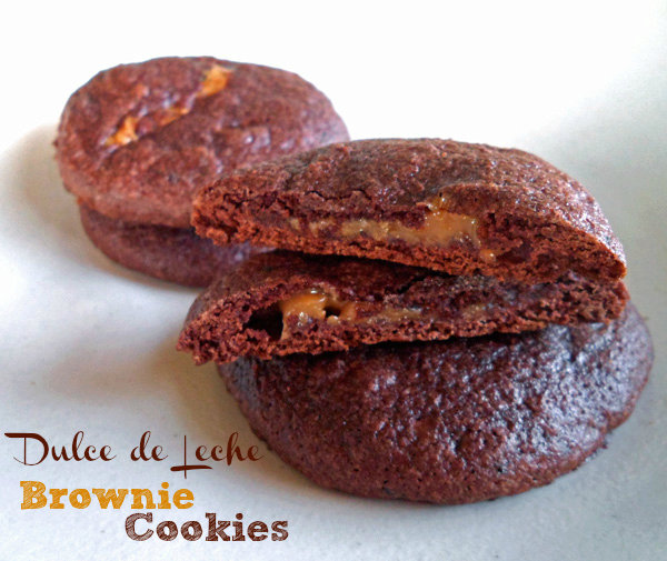 Dulce de Leche Brownie Mix Cookies