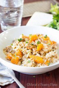Easy Butternut Squash and Spicy Sausage Risotto