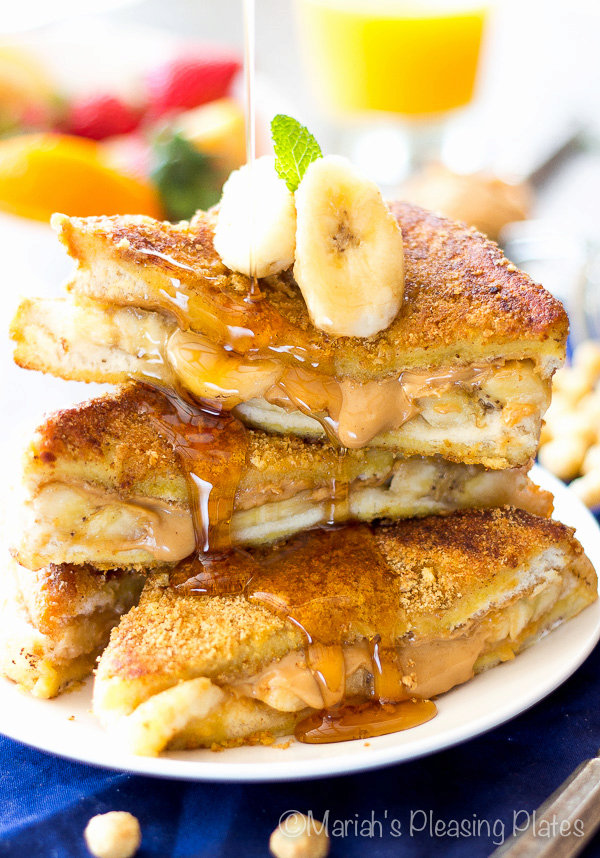 Best Ever Peanut Butter Banana French Toast