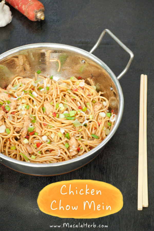 Chicken chow mein stir fried noodles the indo chinese way forumfinder Images