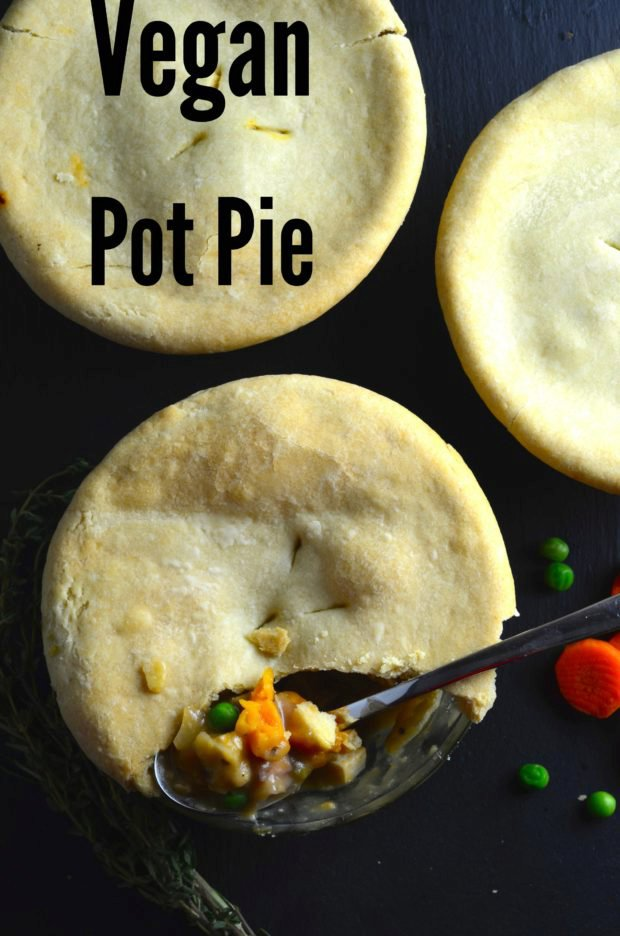 Vegan Pot Pies With White Wine Gravy & Olive Oil Crust