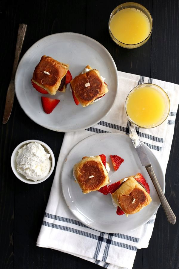 Stuffed French Toast and Sausage Sliders