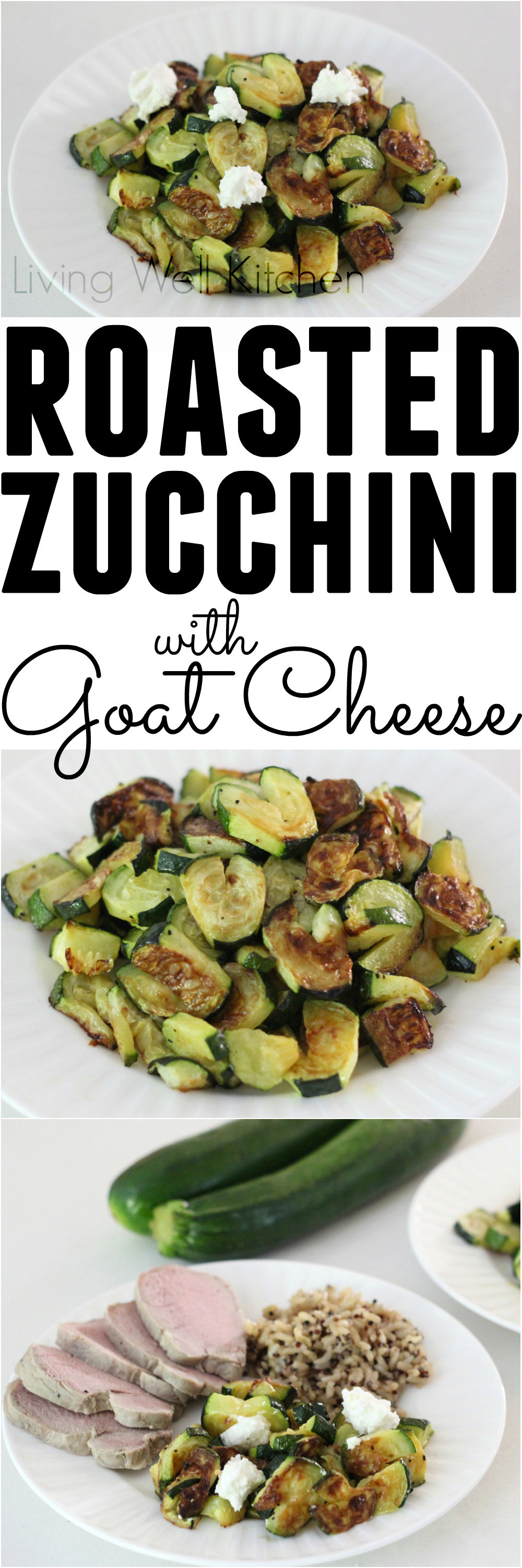 Roasted Zucchini Hearts and Goat Cheese