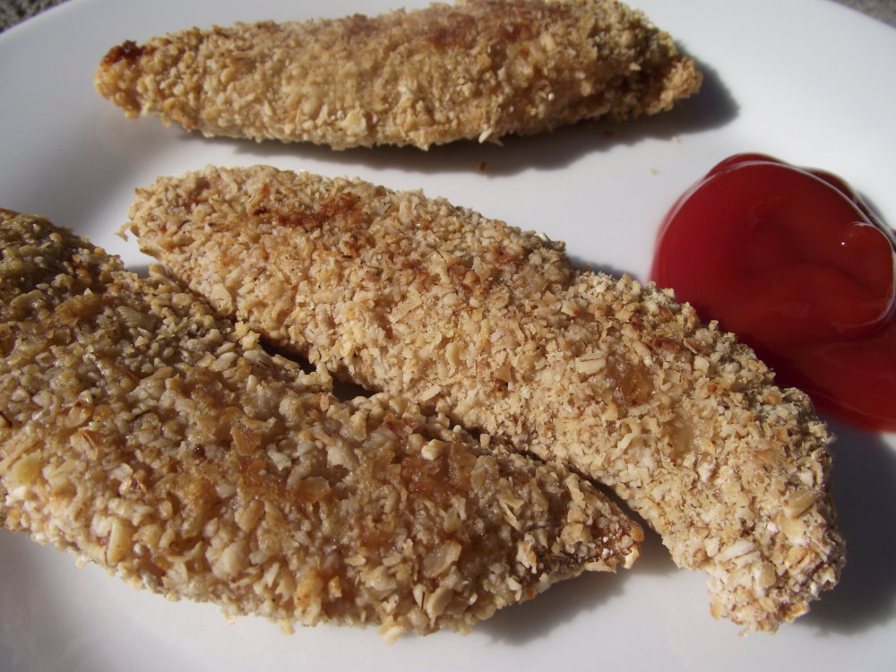 Oatmeal Crusted Chicken Fingers