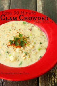 Easy Clam Chowder From Scratch in 30 Minutes
