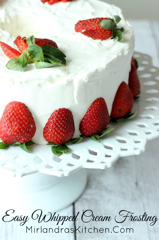 Easy Whipped Cream Frosting