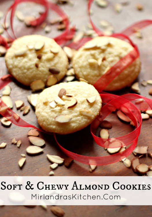 Soft & Chewy Almond Cookies